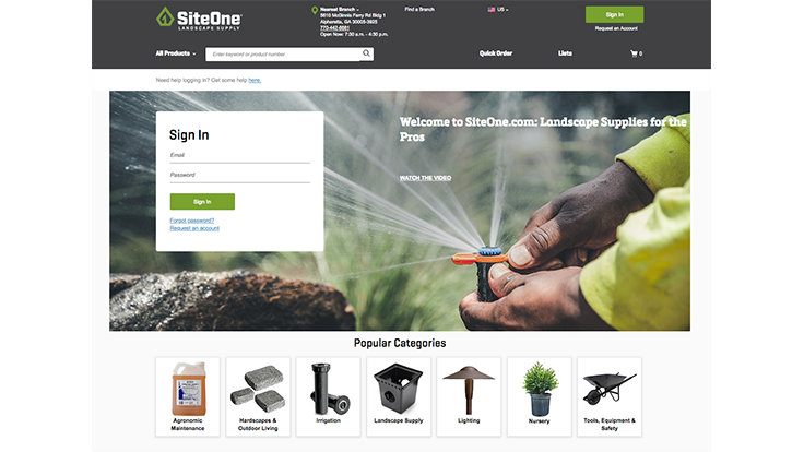 SiteOne launches new website for mobile ordering
